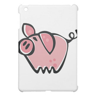 かわいい漫画のピンクのブタ iPad MINIカバー