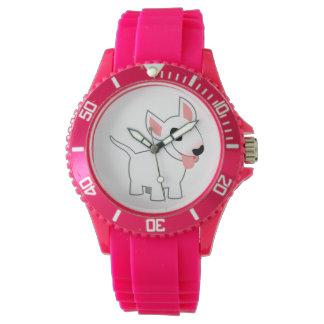 かわいい漫画のブルテリアの腕時計 腕時計