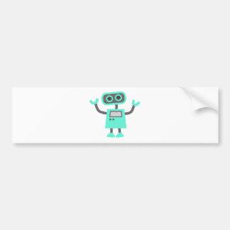 かわいい漫画のロボット バンパーステッカー