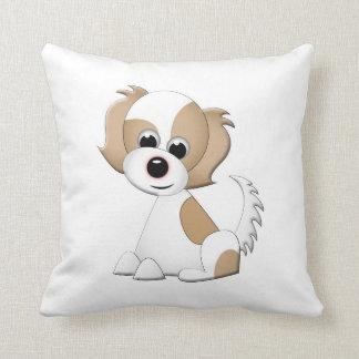 かわいい漫画の子犬の枕 クッション