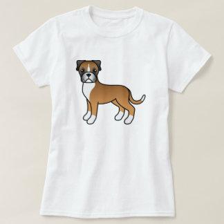 かわいい漫画の子鹿のボクサー犬 Tシャツ