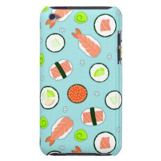 かわいい漫画の寿司パターン青 Case-Mate iPod TOUCH ケース