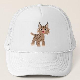 かわいい漫画の幸せなオオヤマネコの帽子 キャップ