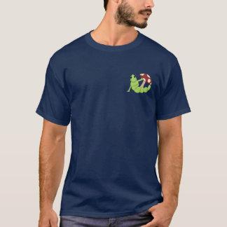 かわいい漫画の幼虫みみずのToadstoolのデザイン Tシャツ