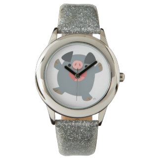 かわいい漫画の弾力があるブタの腕時計 腕時計