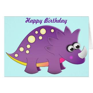 かわいい漫画の恐竜 カード
