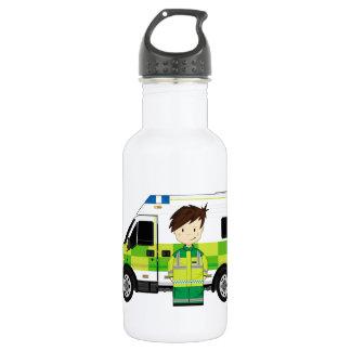 かわいい漫画の救急車およびEMT ウォーターボトル