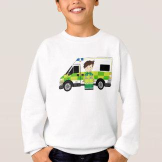 かわいい漫画の救急車およびEMT スウェットシャツ