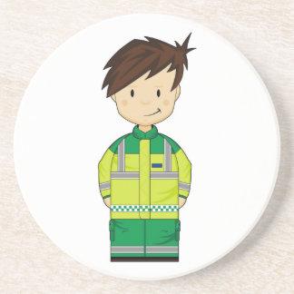 かわいい漫画の救急車EMT コースター