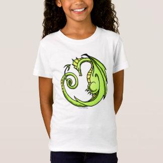 かわいい漫画の眠いドラゴンのティー Tシャツ