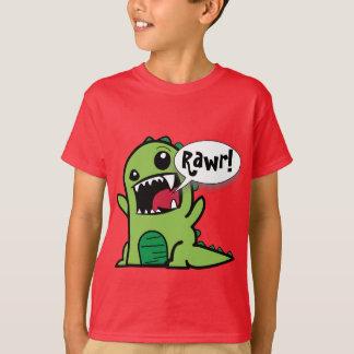 かわいい漫画の緑「Rawr!」 恐竜 Tシャツ