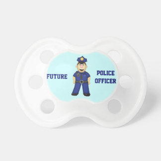 かわいい漫画の警官 おしゃぶり