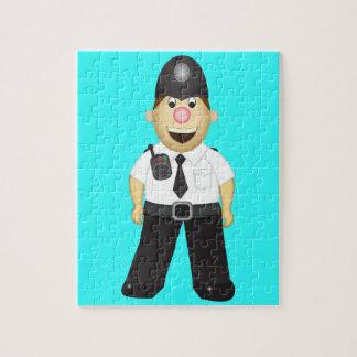 かわいい漫画の警官 ジグソーパズル