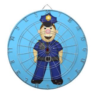 かわいい漫画の警官 ダーツボード