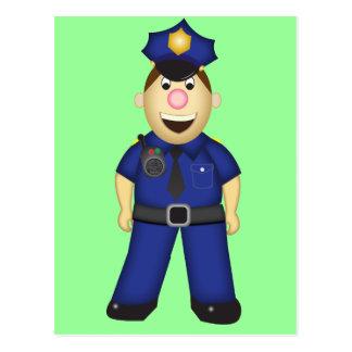 かわいい漫画の警官 ポストカード
