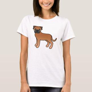 かわいい漫画の赤いBullmastiff犬 Tシャツ