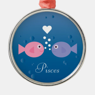 かわいい漫画の魚の魚類の(占星術の)十二宮図の印のカスタム メタルオーナメント
