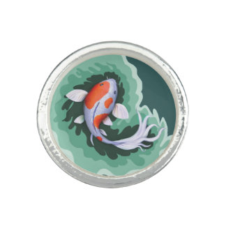 かわいい漫画の魚 指輪