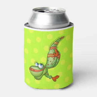 かわいい漫画はより涼しい夏のビーチ家族できます 缶クーラー