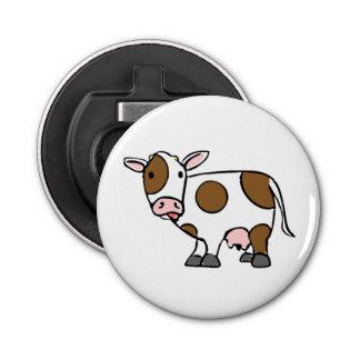 かわいい漫画牛ブラウンおよび白 栓抜き