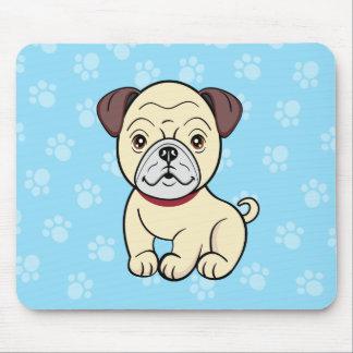 かわいい漫画犬のパグのマウスパッド マウスパッド