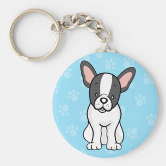 かわいい漫画犬のフレンチ・ブルドッグKeychain キーホルダー