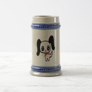 かわいい漫画犬 ビールジョッキ