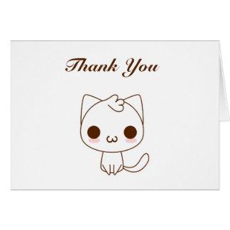 かわいい漫画猫は感謝していしています カード