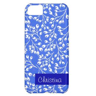 かわいい濃紺および白い秋の果実 iPhone5Cケース