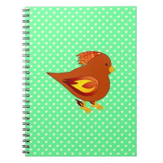 かわいい火の鳥 ノートブック