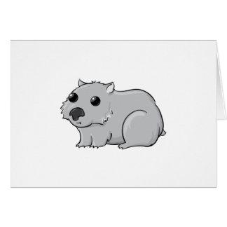 かわいい灰色か灰色の漫画Wombat カード
