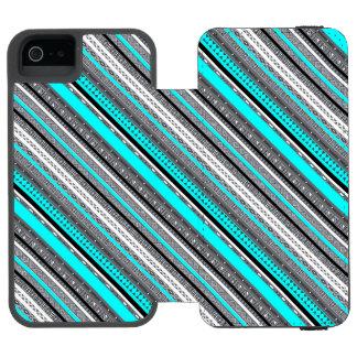 かわいい灰色の水のアズテック人パターン INCIPIO WATSON™ iPhone 5 財布 ケース