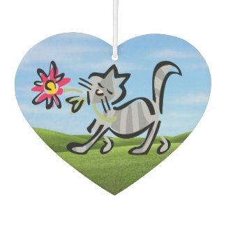 かわいい灰色の虎猫猫 カーエアーフレッシュナー