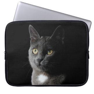 かわいい灰色猫 ラップトップスリーブ