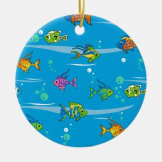 かわいい熱帯魚のオーナメント セラミックオーナメント