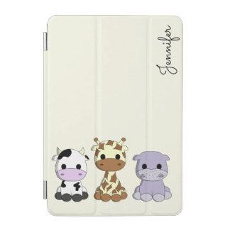 かわいい牛キリンのカバの漫画の名前はipadの場合をからかいます iPad miniカバー