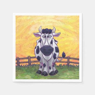 かわいい牛台所付属品 スタンダードカクテルナプキン