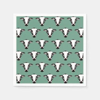 かわいい牛顔パターン スタンダードカクテルナプキン