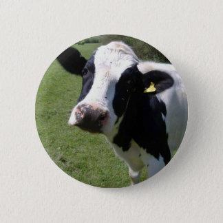 かわいい牛 5.7CM 丸型バッジ