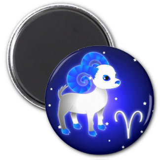 かわいい牡羊座の(占星術の)十二宮図 マグネット