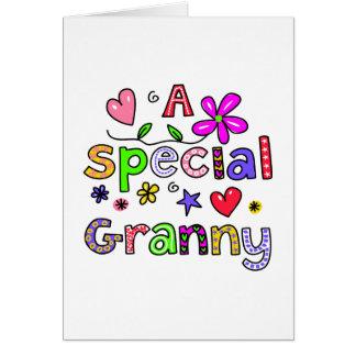 かわいい特別なおばあさんの挨拶の文字の表現 カード
