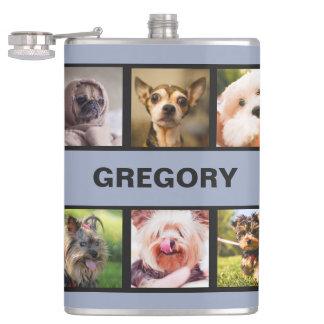 かわいい犬かあなたの写真の習慣のフラスコ フラスク