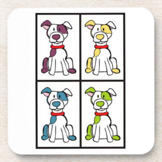 かわいい犬のスケッチ-いじめっ子の品種 コースター