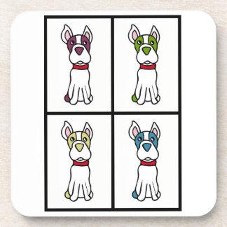 かわいい犬のスケッチ-ウシ コースター
