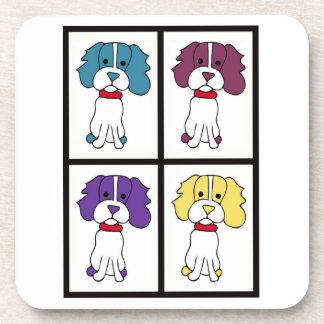 かわいい犬のスケッチ-スパニエル犬 コースター
