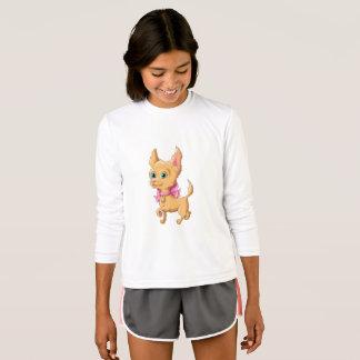 かわいい犬のチワワのイラストレーション Tシャツ