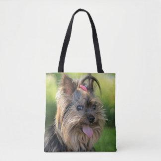 かわいい犬のバッグ トートバッグ