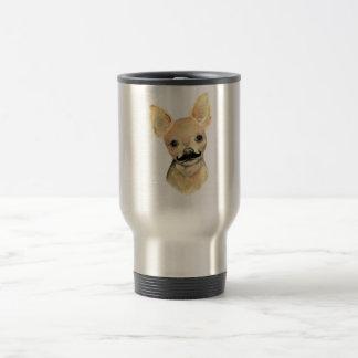 かわいい犬のユーモアの髭 トラベルマグ