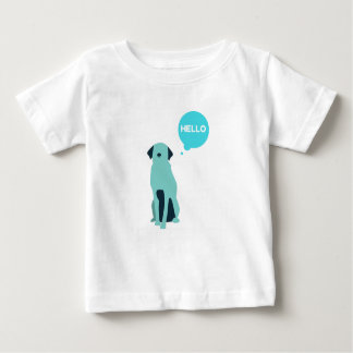かわいい犬の子供のTシャツ ベビーTシャツ