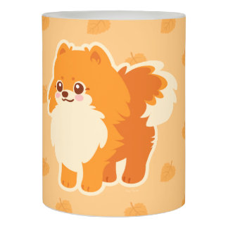 かわいい犬の漫画のポメラニア犬 LEDキャンドル
